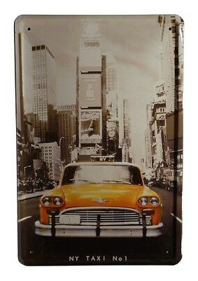 Blechschild NEW YORK NY TAXI No 1 20 x 30 cm Metallschild 48