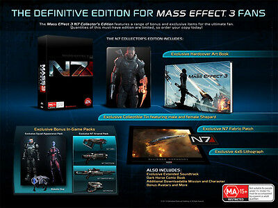 Mass Effect 3 N7 Collector's Edition X360 PAL AU *NEW!*