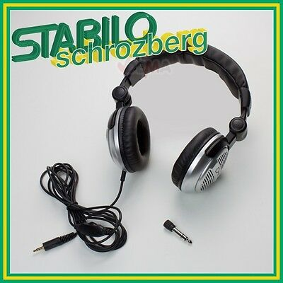 DJ Kopfhörer/Headphone/Hörer für MP3 Player Keyboard E-Drum 3,5 / 6,3 mm 918430