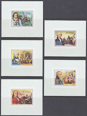 Chad Sc C181-C185 MNH. 1976 US Bicentennial, Proofs on Stamp Paper