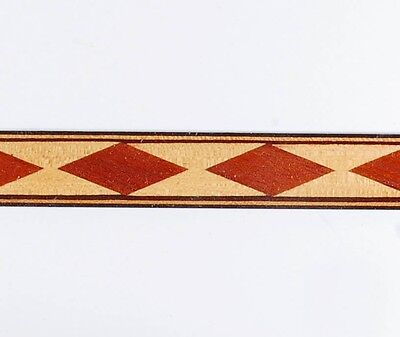 "5/8"" Elegant Floating Diamond  -- Frères Marquetry Banding Strips (Inlay-98)"