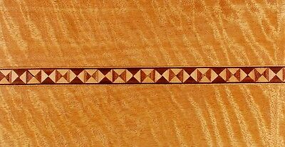 """Five Strips of 1/2"""" Trompe-l' il Boxes -- Frères Marquetry Banding (Inlay-26)"""