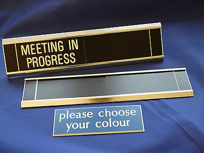 Sliding Signs - Meeting in Progress - Entry Control System