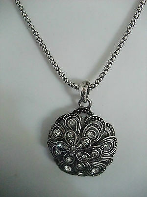 GOTHIC VICTORIAN STYLE MARCASITE ANTIQUED SILVER COLOUR NECKLACE new gift pouch
