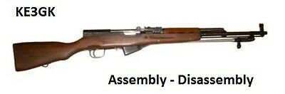 SKS 45  Rifle Disassembly and Reassembly CDROM PDF