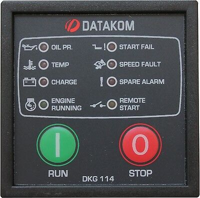 DATAKOM DKG-114 Generator Manual and Remote Start Control Panel