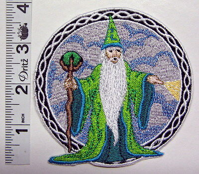 "4"" WIZARD Sew On PATCH Embroidered OOAK 102 Sorcerer"