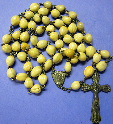 Vintage Antique Large Jobs Tears Catholic Steel  Rosary  Religious Medal  Lot 3
