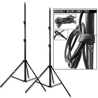 PBL Light Stands Photo Video New 7ft  Velcro Ties Steve Kaeser Photographic