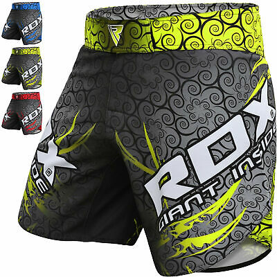 RDX Kick Boxing MMA Shorts Mens Training UFC Cage Fighting Grappling Muay Thai