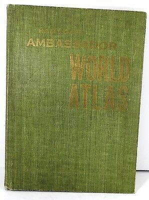 1957 Hammond Ambassador World Atlas- Hardcover