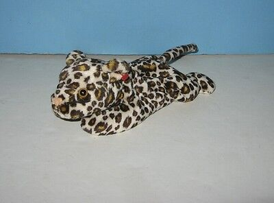 "8"" Spotted Leopard Bean Plush Animal"