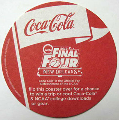 COCA-COLA 2012 NCAA FINAL FOUR Soda COASTER Mat, Friday's New Orleans Win A Trip