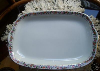 Lovely Austrian Imperial China Platter, Floral Border