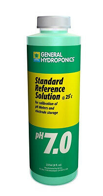 General Hydroponics pH 7.0 Calibration Solution 8 oz ounce - ph meters