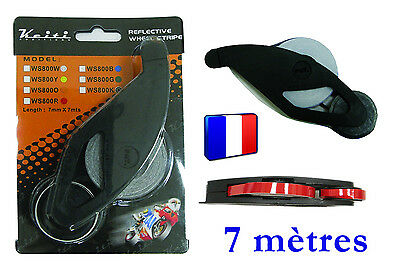 ► Liseret Keiti® autocollant 2 jantes moto Rouge applicateur 7 mètres 7 mm◄