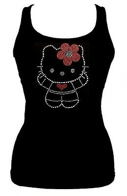 086ee4075 SEQUIN HELLO KITTY Solid Tank Top Shirt Color Black Size Small to ...