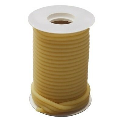 50  Feet 1/4 I.D x 3/32 w x 7/16 O.D  NATURAL LATEX TUBING SURGICAL RUBBER AMBER