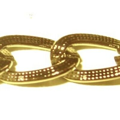 1 meter Gold Plated Curb Chain - 7x10mm - A5441