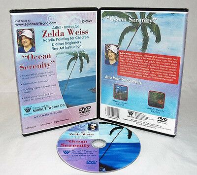 Zelda DVD Ocean Serenity Acrylic Painting for Kids, learn to paint, great gift!