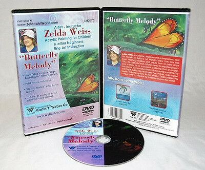 Zelda DVD Butterfly Melody Acrylic Painting for Kids, educational, great gift!