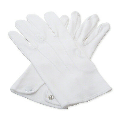 100% Cotton White Gloves Cadet Waiter Army Butler Brass
