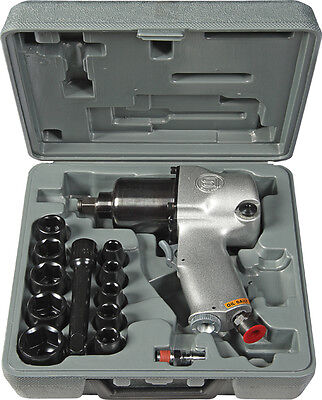 "1/2"" Impact Wrench Kit - Case & Sockets Quality Japanese Air Tools"