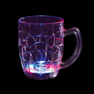 100 Flashing Light-Up LED Beer Mug Wholesale Barware