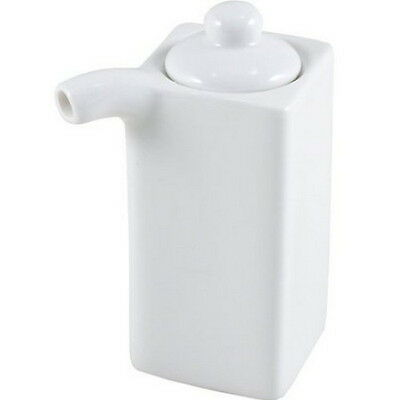 White Porcelain Soy Sauce Dispenser 3.5oz A11042