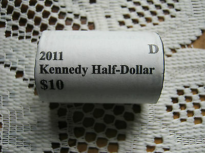 "U.S.mint roll of Kennedy 2011 half dollars ""d""mint mark"