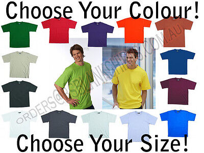 | Mens 100% Cotton TShirt Tee | Black Red White Blue
