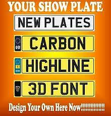 New Number plates For Your Cherished Plate Fast P&P