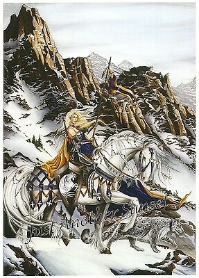 Nene Thomas Print Limited Edition Signed Fortitude Brodamante Horse Fairy Snow