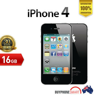 Apple iPhone 4 16GB MINT CONDITION Black Smartphone seller refurbished used
