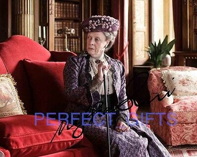Maggie Smith Violet Downton Abbey Signed 10X8 Repro Pp Photo Print