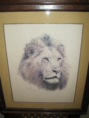 """Franklin Mint Hand Signed Lithograph """"AFRICAN KING"""""""