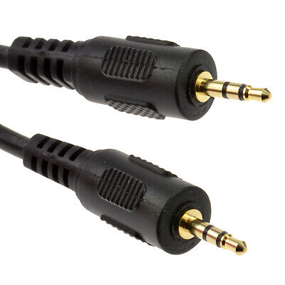 2.5 mm 2.5mm GOLD Stereo Jack to Jack Cable Lead