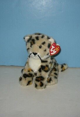 "2005 TY Beanie Babies ""Spotter The Leopard Bean Plush w/ Tag"