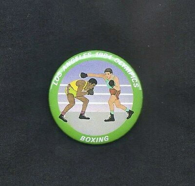 1984 SUMMER OLYMPICS PINBACK ~ BOXING ~ Near MINT Condition