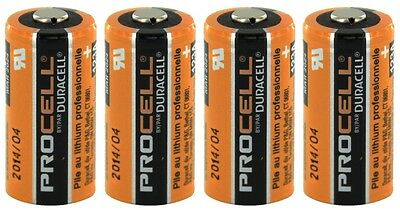 4 DURACELL PROCELL CR123A 123A 123 LITHIUM 3v BATTERIES EXP. DATE 2027
