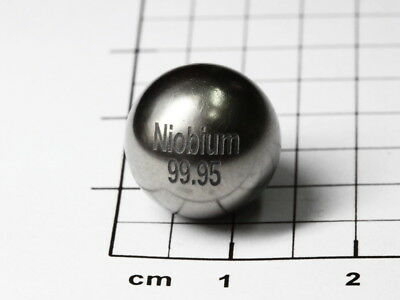 Niobium metal sphere 99.95% purity - Ø 1/2 inch - element collection