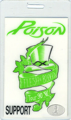 POISON 1990-91 FLESH & BLOOD TOUR Laminated Backstage Pass