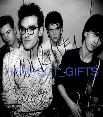 THE SMITHS X2 MORRISSEY JOHNNY MARR SIGNED 10x8 PP REPRO PHOTO PRINT
