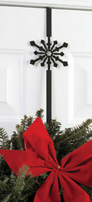 Village Wrought Iron Snowflake Wreath Hanger 2 7/8 In. W x 4 In. H WRE-B-85 New
