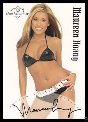 2003 BENCHWARMER MAUREEN HOANG AUTHENTIC AUTOGRAPH TRADING CARD #16 of 20