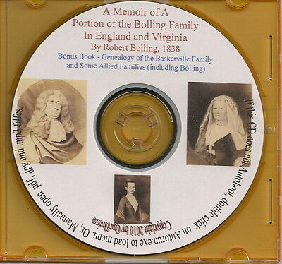 Bolling Family In England and Virginia - Genealogy + Bonus Book