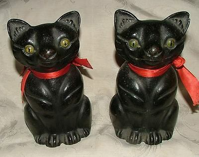 PAIR Hubley Full Figured CAT Doorstops Door Stops Cast Iron WONDERFUL