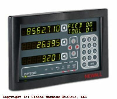 """NEWALL DP700 Digital Readout Milling Machine Package 12"""" x 24"""" other sizes avail"""