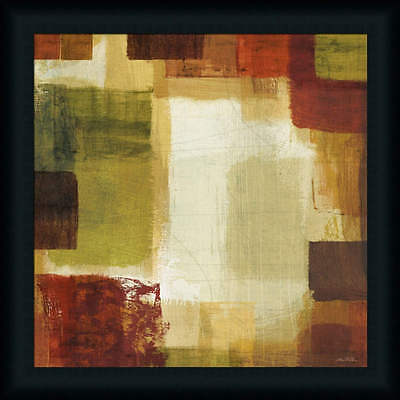 Earth and Fire II Orange Red Contemporary Abstract Framed Art Print Wall Décor