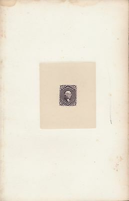 #70P1 Large Die On India Paper W/ Light Foxing Rare Wl1488A